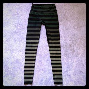 K-DEER Green Ombré Striped Leggings
